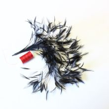 Black Stripped Hackle Feather Mount